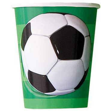 Football Paper Party Cups 8pk