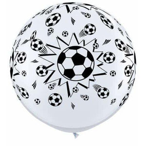 3ft Footballs A Round Giant Latex Balloons 2pk