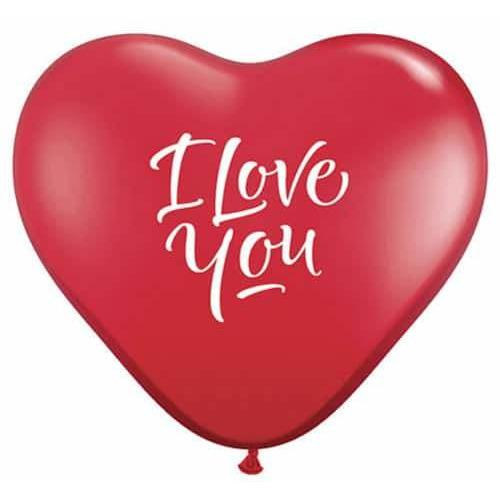 3ft I Love You Script Modern Giant Latex Balloons 2pk