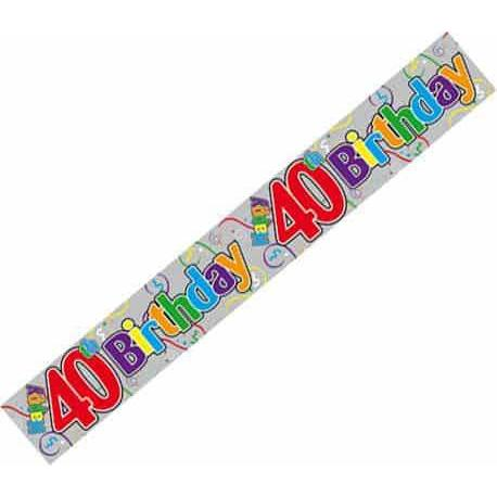 40th Birthday Holographic Banners