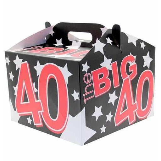 40th Birthday Party Carry Handle Balloon Box