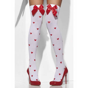 Love Heart Opaque Hold Ups