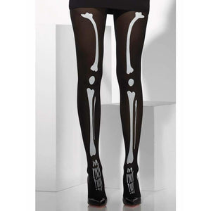 Skeleton Opaque Tights
