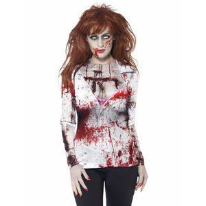 Zombie Female T Shirt - mypartymonsterstore