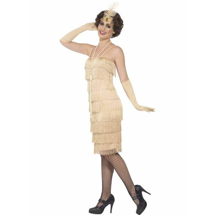 Gold Fringe Flapper Costume