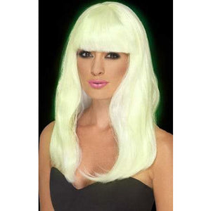 Glow In The Dark Glam Wig - mypartymonsterstore