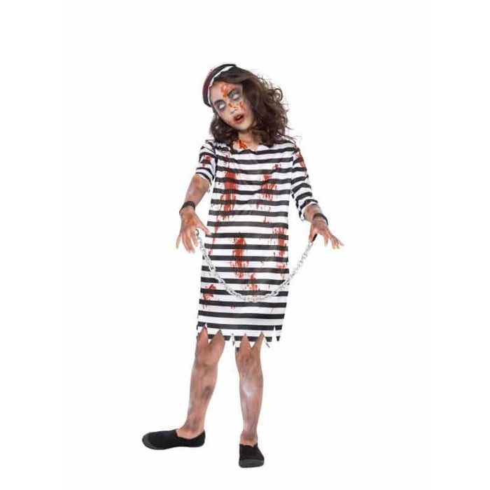 Zombie Convict Girl Costume