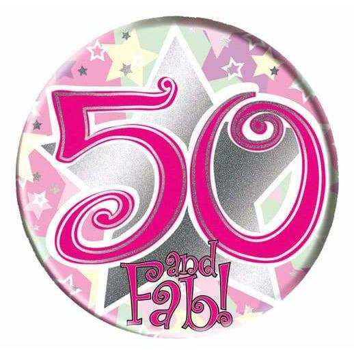 50 And Fab Big Badge