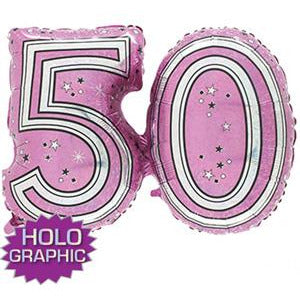 Pink 50 Jointed Number Shape Balloons