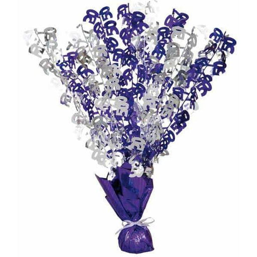 50 Purple And Silver Balloon Weight