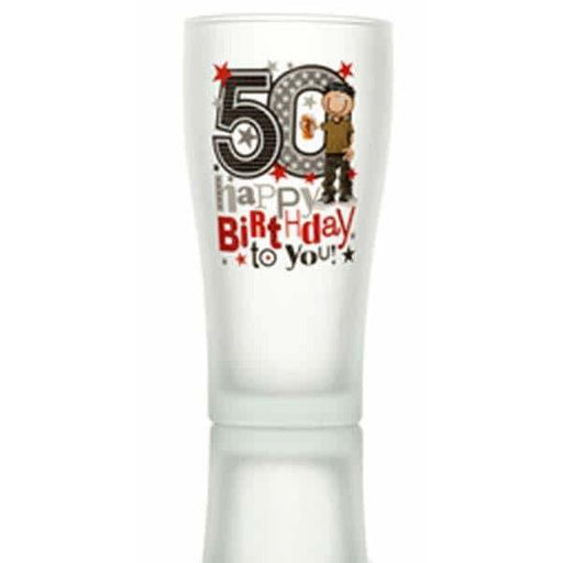50th Beer Glass
