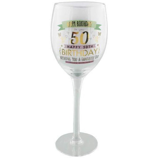 50th Birthday Girl Wine Glass