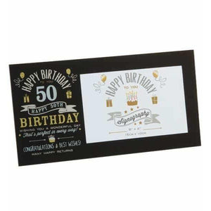 50th Birthday Glass Photo Frame