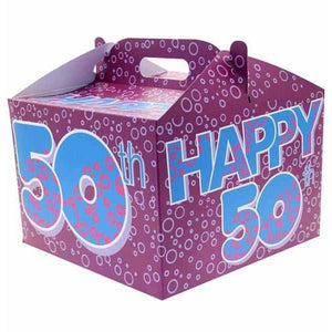50th Birthday Party Carry Handle Balloon Box