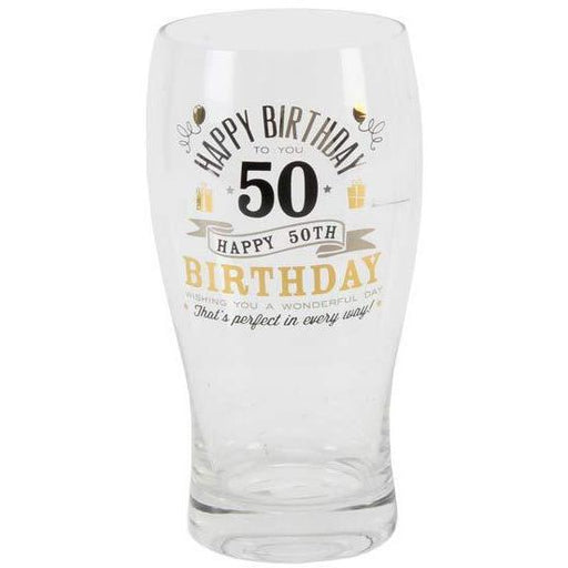 50th Birthday Pint Glass