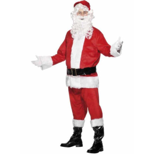 6 Piece Red and White Santa Christmas Costumes