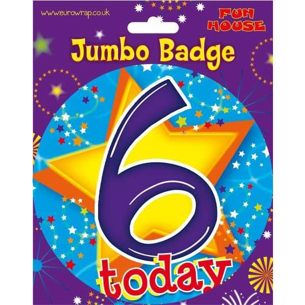 6 Today Blue Big Badge