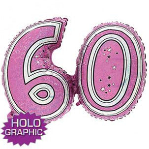 Pink 60 Jointed Number Shape Balloons
