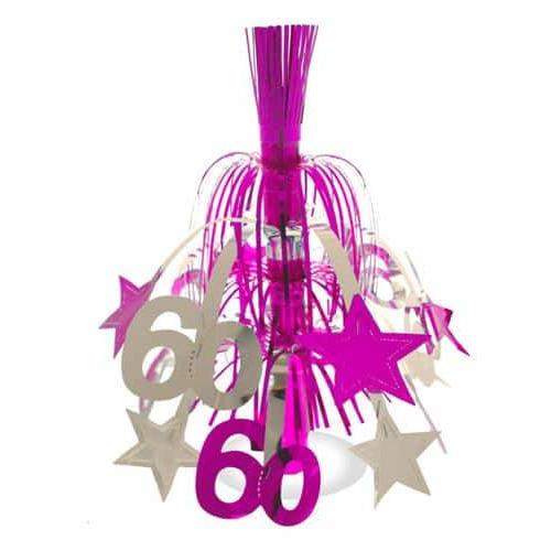 60 Pink And Silver Star Decoration