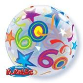 60th Birthday Brilliant Stars Bubble Balloon
