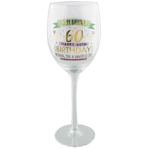 60th Birthday Girl Wine Glass