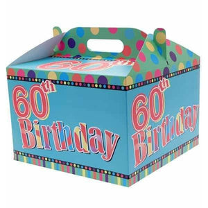 60th Birthday Party Carry Handle Balloon Box