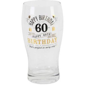 60th Birthday Pint Glass