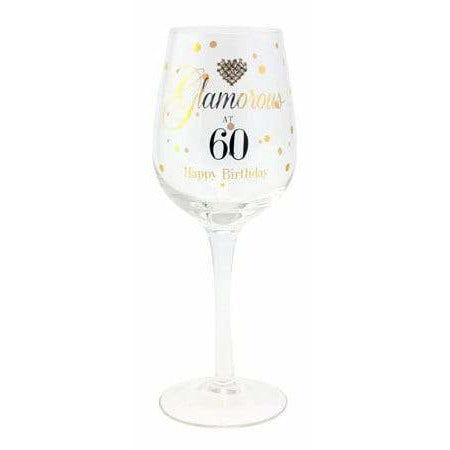 Glamorous At 60 Wine Glass