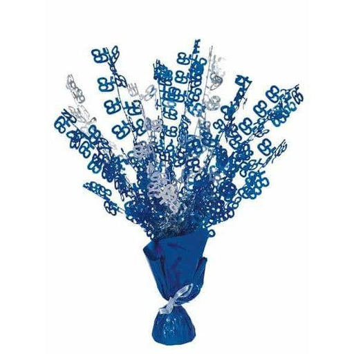 65 Blue Glitz Balloon Weight