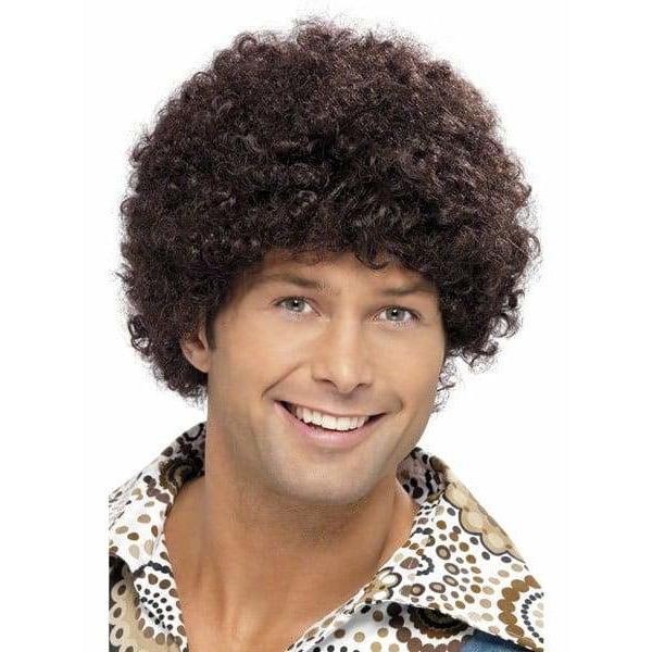 70s Brown Afro Disco Dude Wig