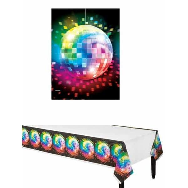 70s Disco Fever Plastic Tablecover