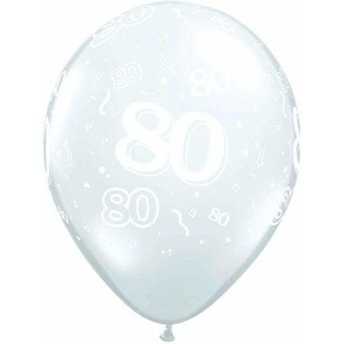 80 Around Diamond Clear Latex Balloons x50