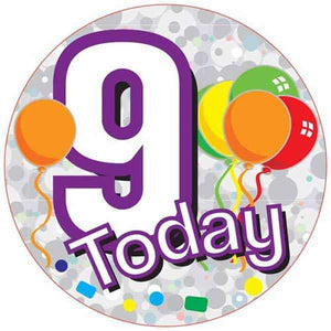 9 Today Holograpgic Party Badge