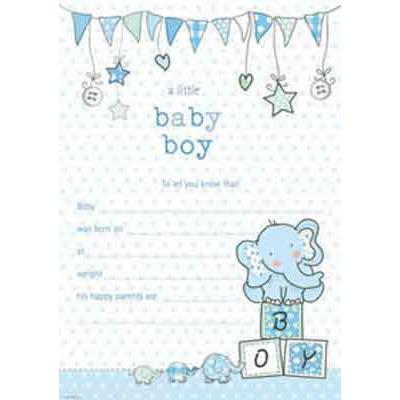 A Little Baby Boy Hanging Pad Announcement x20
