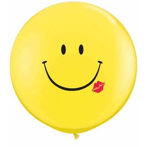 A Smile & A Kiss Giant Latex Balloons x2