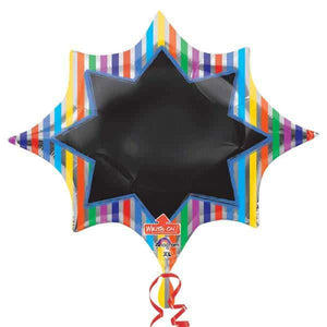 Stripe Burst Blackboard Shape Balloons - mypartymonsterstore