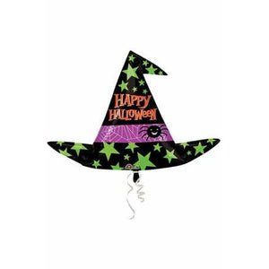 Witch Hat Halloween Supershape Balloon