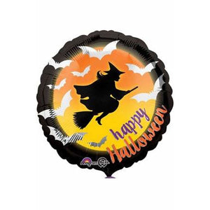 Moonlight Witch & Bats Balloons - mypartymonsterstore