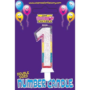 Age 1 Number Candle