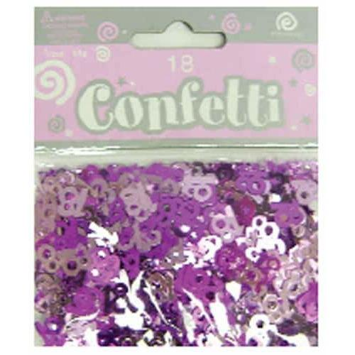 Age 18 Pink Shimmer Confetti