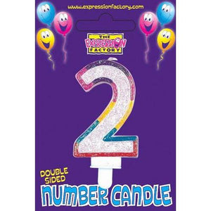 Age 2 Number Candle