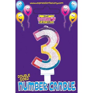 Age 3 Number Candle