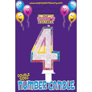 Age 4 Number Candle