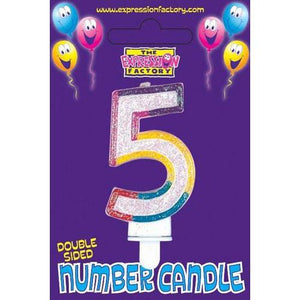 Age 5 Number Candle