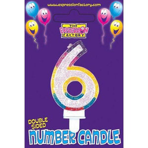 Age 6 Number Candle