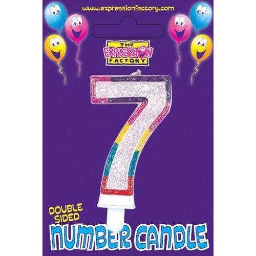Age 7 Number Candle