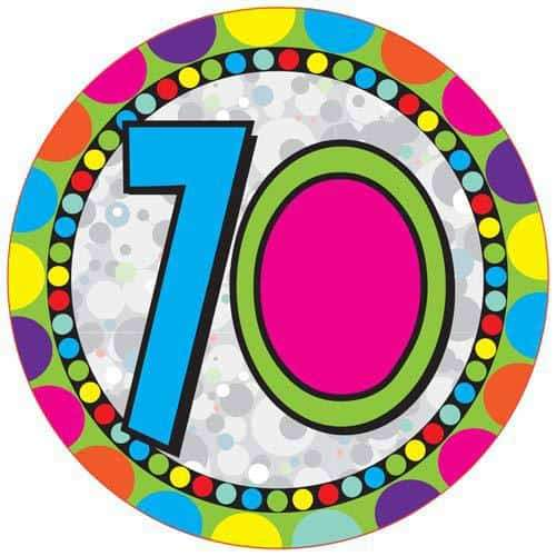 Age 70 Party Badge