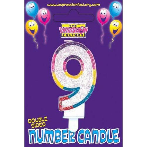 Age 9 Number Candle