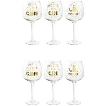 Assorted Gold Gin Glasses x1