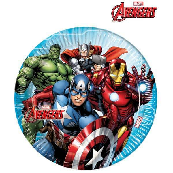 Mighty Avengers Paper Plates